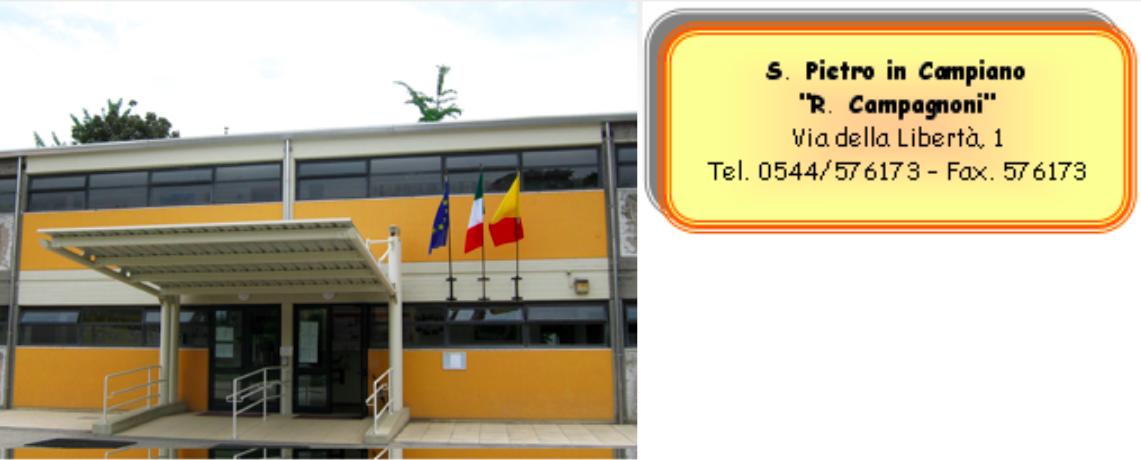 """Scuola Primaria """"R. Campagnoni"""" - Via della Libertà 1 - S. Pietro in Campiano"""
